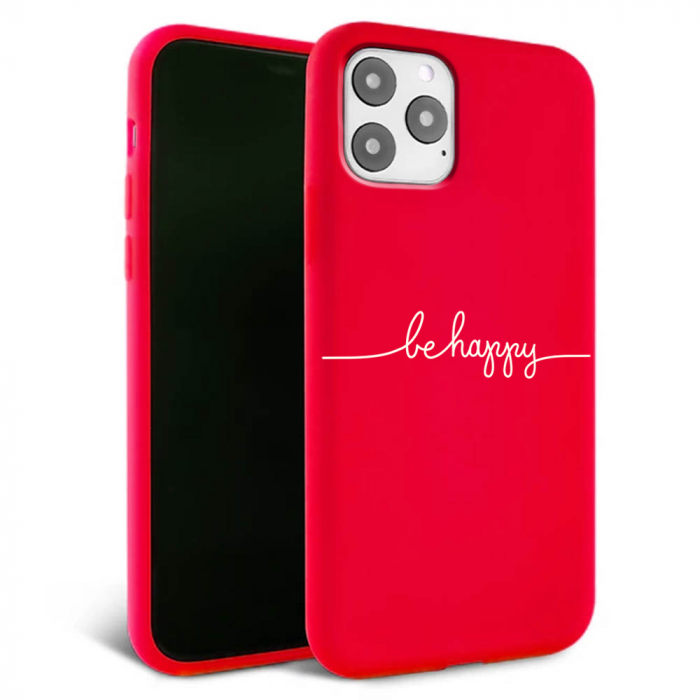 Husa iPhone 11 - Silicon Matte - Be Happy [1]