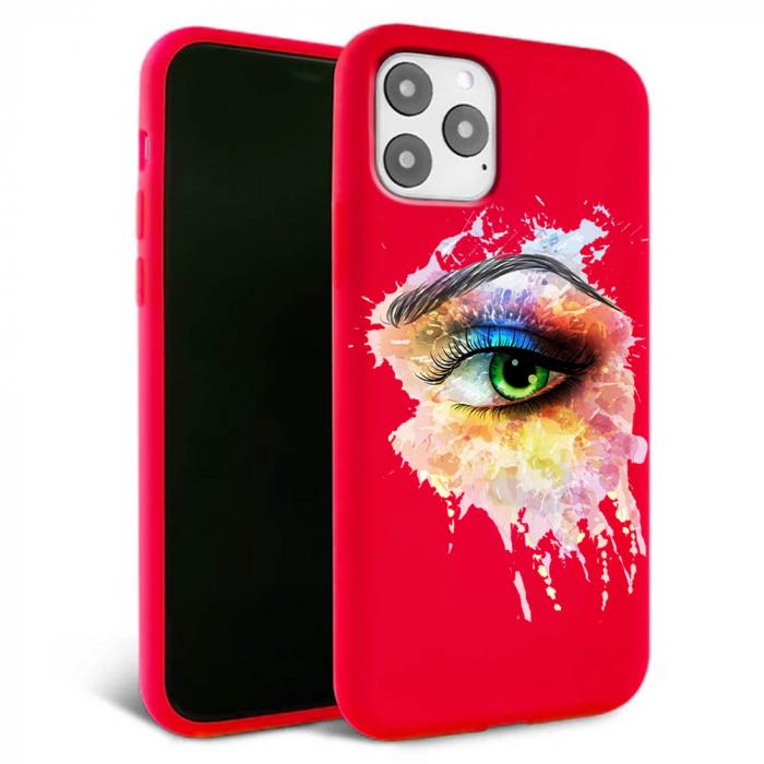 Husa iPhone 11 - Silicon Matte - Colored eye [1]