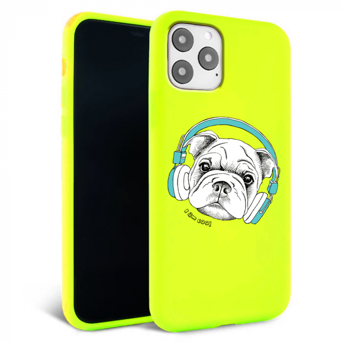 Husa iPhone 11 - Silicon Matte - Cool dog [2]
