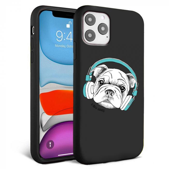 Husa iPhone 11 - Silicon Matte - Cool dog [1]