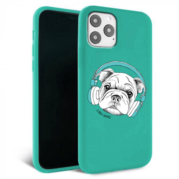 Husa iPhone 11 - Silicon Matte - Cool dog [4]