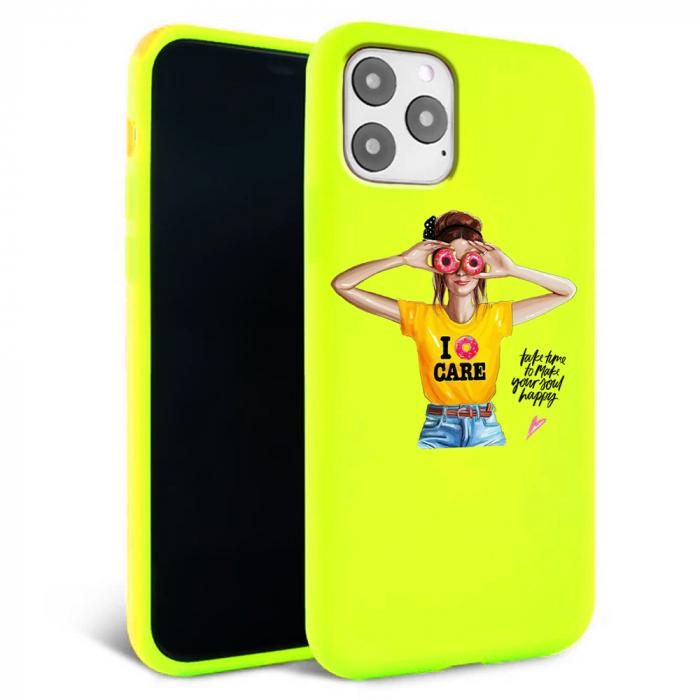 Husa iPhone 11 - Silicon Matte - Don't care [2]