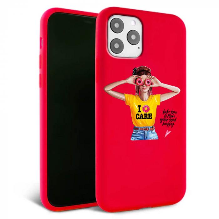 Husa iPhone 11 - Silicon Matte - Don't care [1]