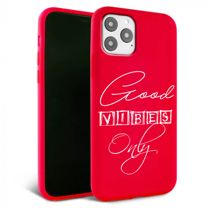 Husa iPhone 11 - Silicon Matte - Good vibes [2]