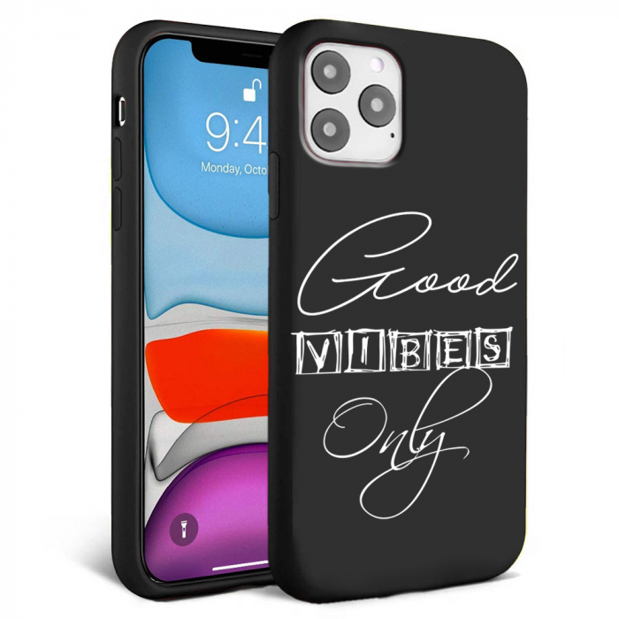 Husa iPhone 11 - Silicon Matte - Good vibes [0]