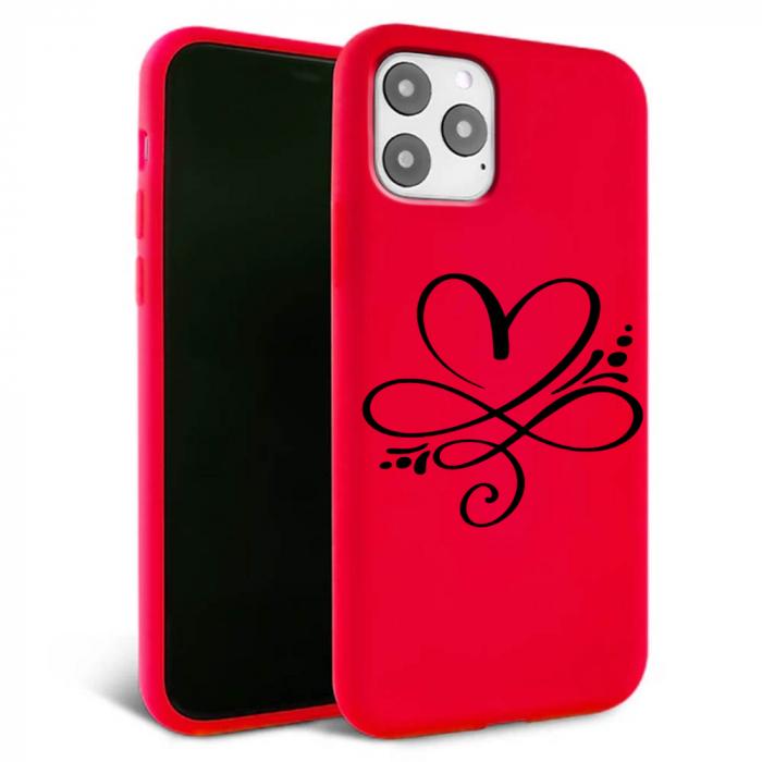 Husa iPhone 11 - Silicon Matte - Heart 1 [0]