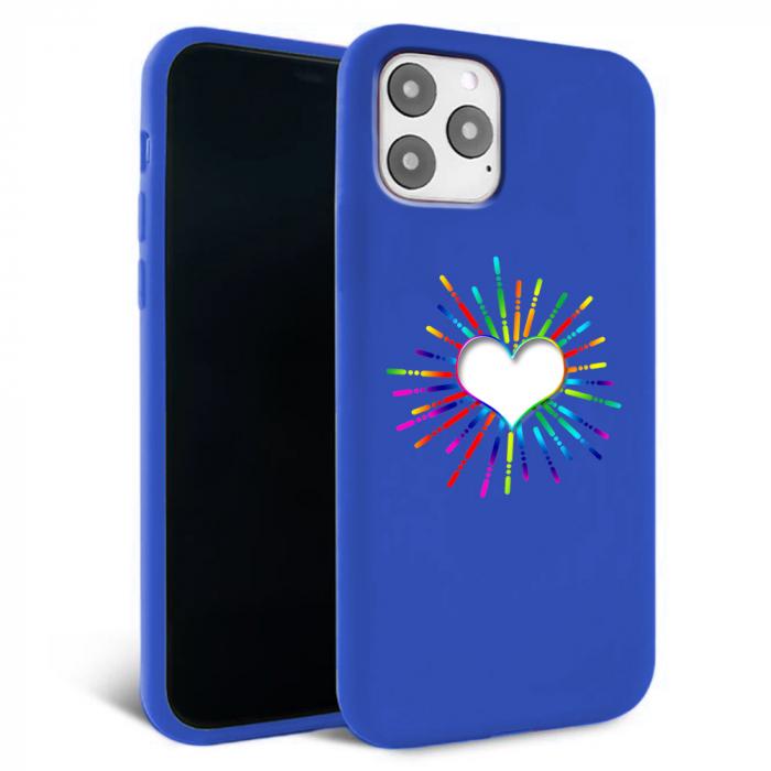Husa iPhone 11 - Silicon Matte - Heart 3 [2]