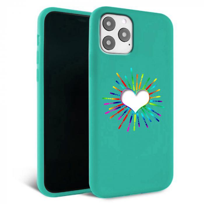 Husa iPhone 11 - Silicon Matte - Heart 3 [3]
