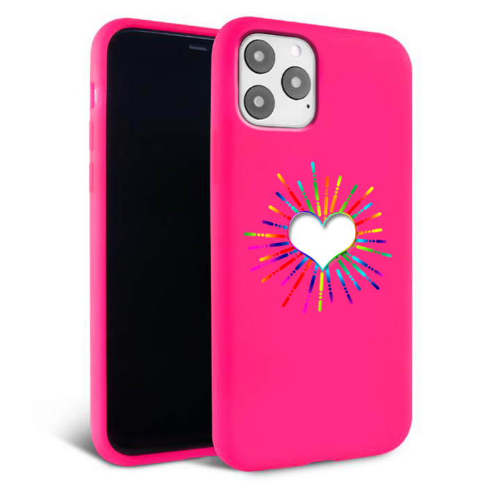 Husa iPhone 11 - Silicon Matte - Heart 3 [0]