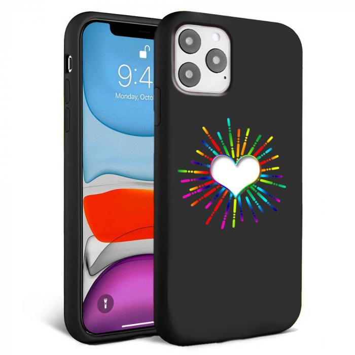 Husa iPhone 11 - Silicon Matte - Heart 3 [5]