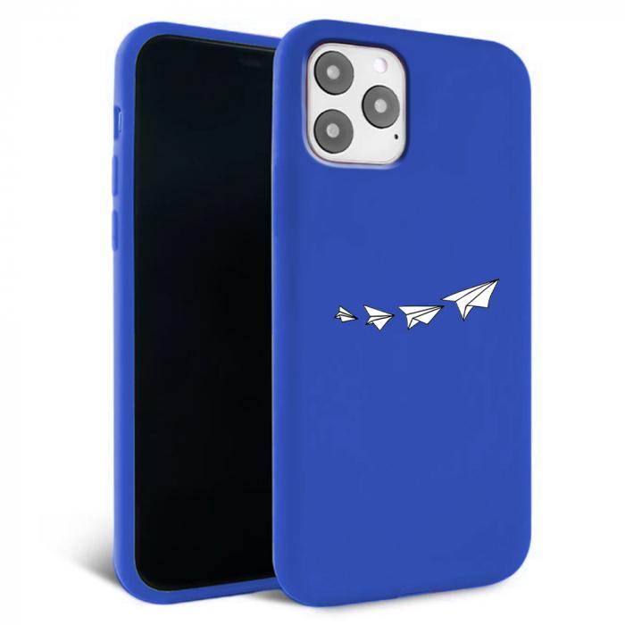 Husa iPhone 11 - Silicon Matte - Paper plane [2]