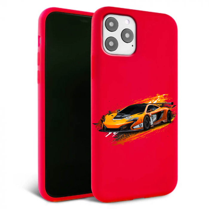 Husa iPhone 11 - Silicon Matte - Racing car [1]