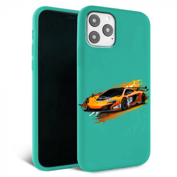 Husa iPhone 11 - Silicon Matte - Racing car [4]