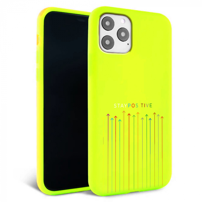 Husa iPhone 11 - Silicon Matte - Stay Positive [5]