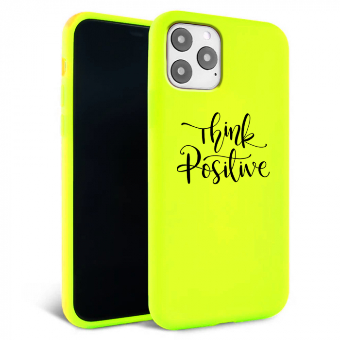 Husa iPhone 11 - Silicon Matte - Think Positive 1 [0]