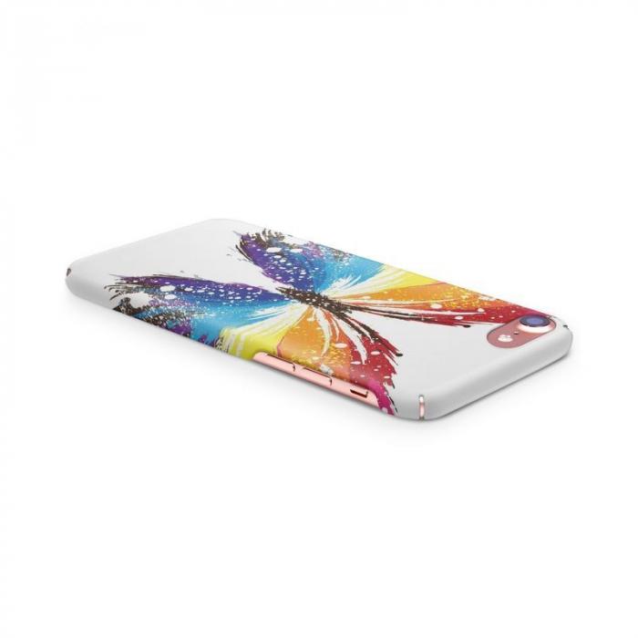 Husa iPhone 6 Custom Hard Case Blue Butterfly 2