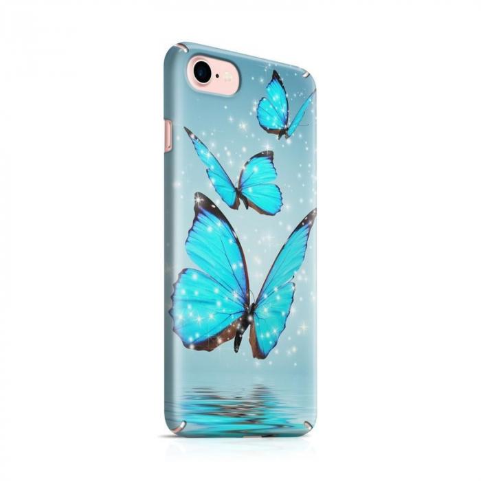Husa iPhone 6 Custom Hard Case Blue Butterflys 0