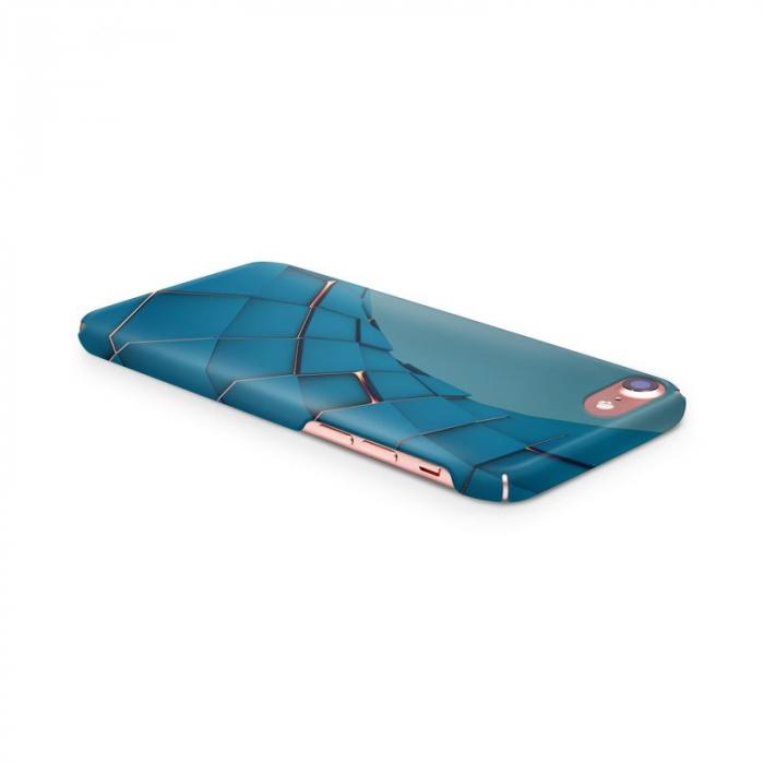 Husa iPhone 6 Custom Hard Case Blue Squares 3