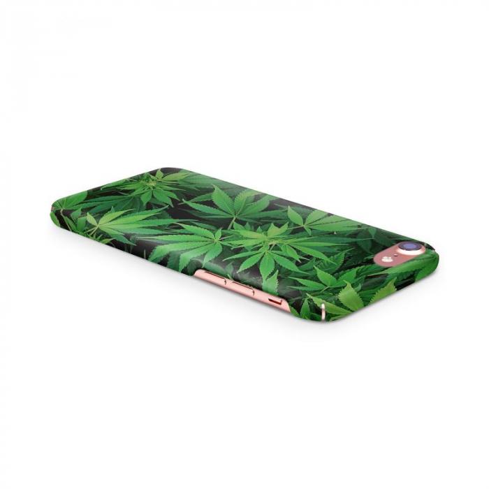 Husa iPhone 6 Custom Hard Case Green Leaf 1