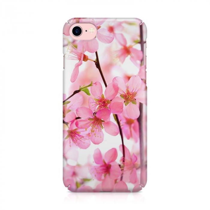 Husa iPhone 6 Custom Hard Case Pink Flowers 2