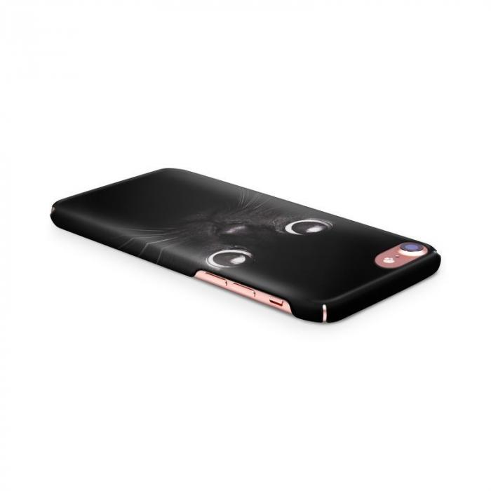 Husa iPhone 7 Custom Hard Case Black Cat 3