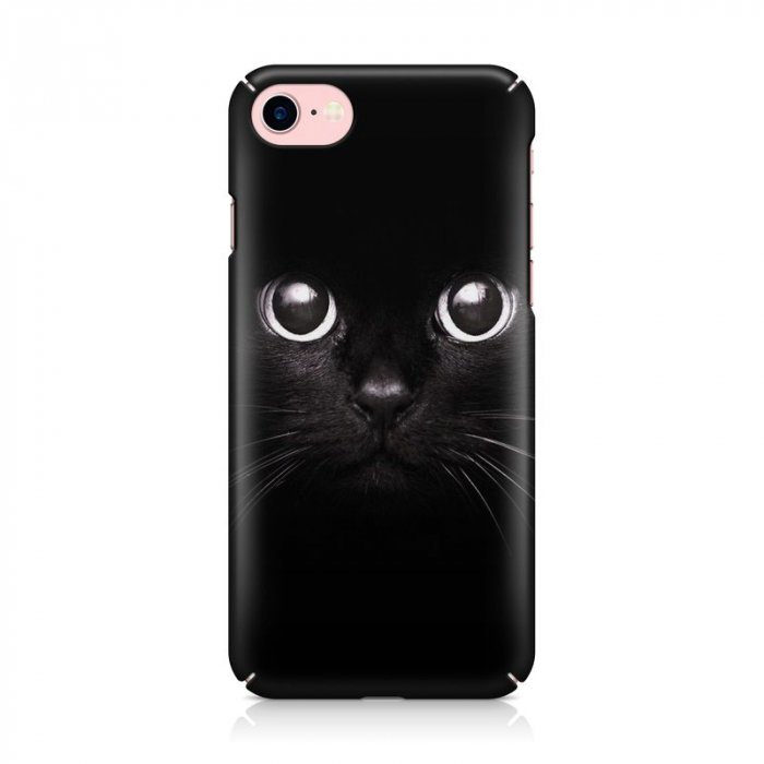 Husa iPhone 7 Custom Hard Case Black Cat 2