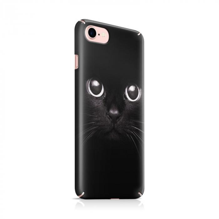 Husa iPhone 7 Custom Hard Case Black Cat 0