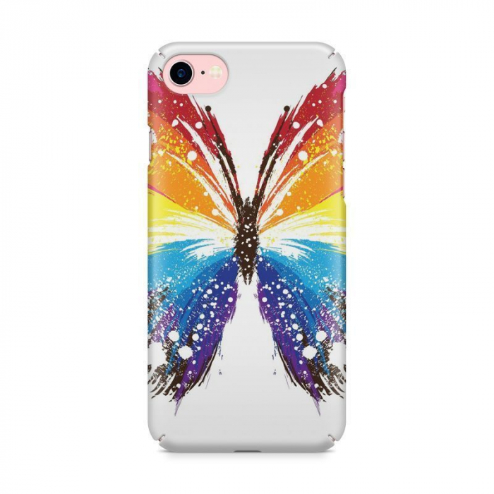 Husa iPhone 7 Custom Hard Case Blue Butterfly 2