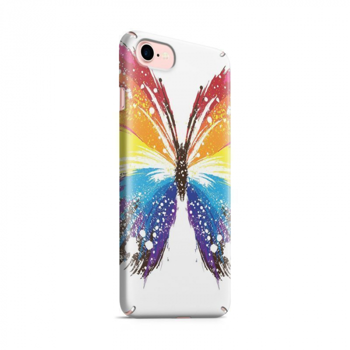 Husa iPhone 7 Custom Hard Case Blue Butterfly 0