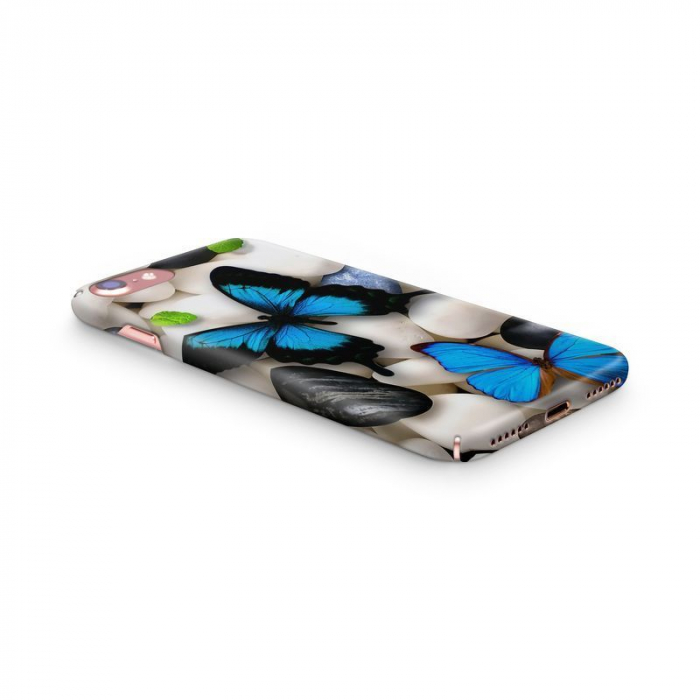 Husa iPhone 7 Custom Hard Case Blue Butterflys 2 1