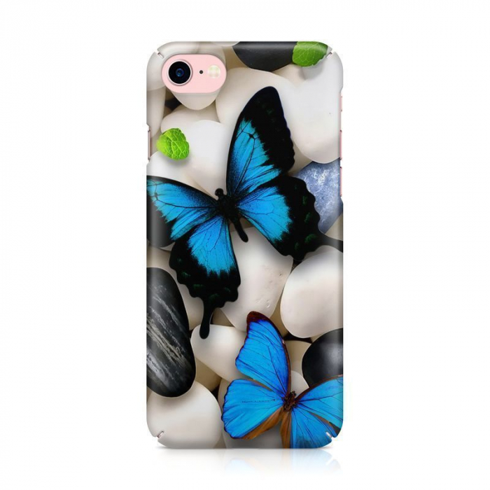 Husa iPhone 7 Custom Hard Case Blue Butterflys 2 2