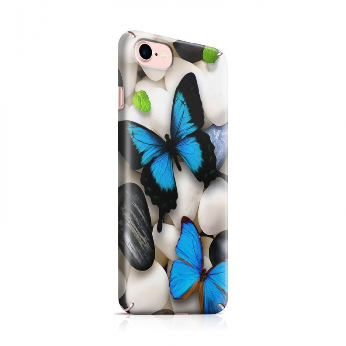 Husa iPhone 7 Custom Hard Case Blue Butterflys 2 0
