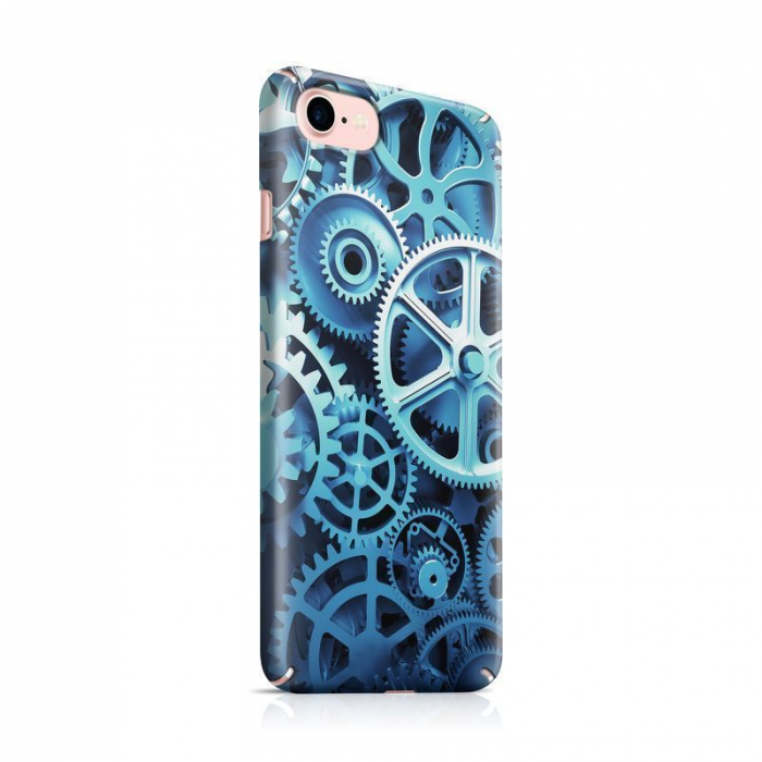 Husa iPhone 7 Custom Hard Case Blue Gear 0