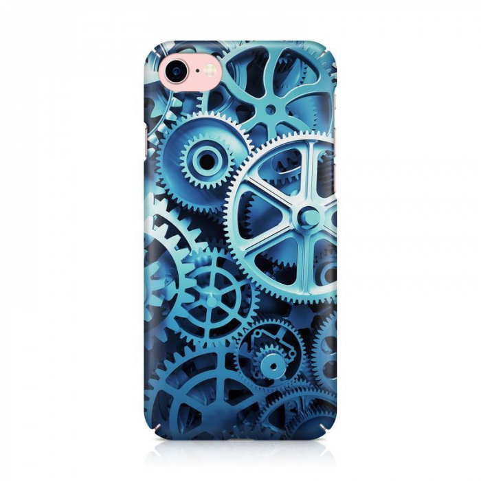 Husa iPhone 7 Custom Hard Case Blue Gear 1