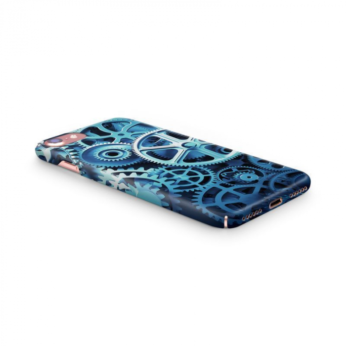 Husa iPhone 7 Custom Hard Case Blue Gear 2