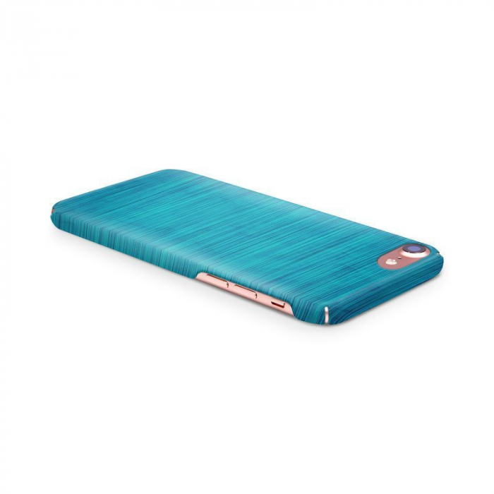 Husa iPhone 7 Custom Hard Case Blue Lines 2