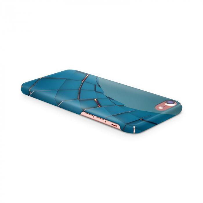Husa iPhone 7 Custom Hard Case Blue Squares 3