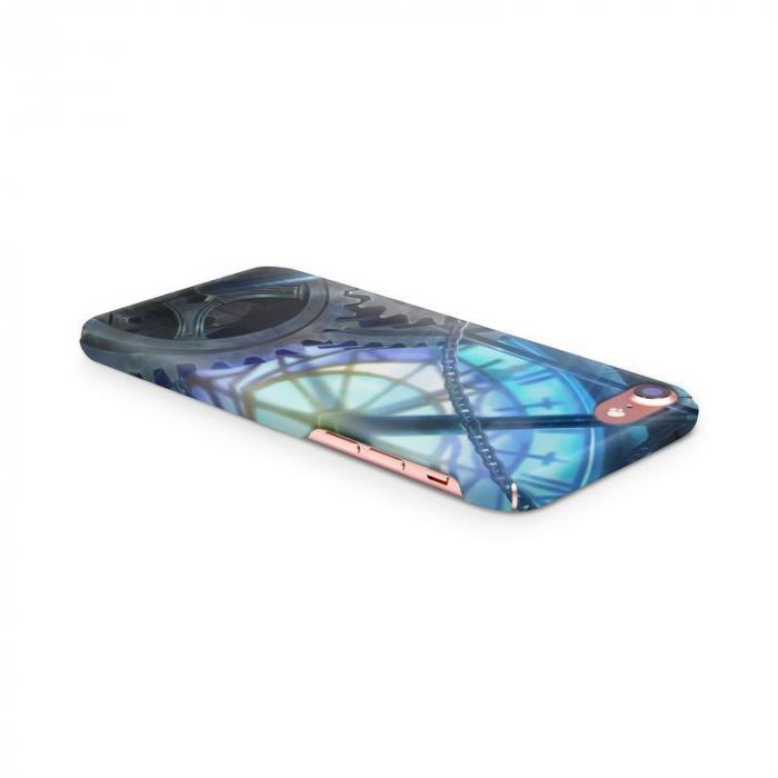 Husa iPhone 7 Custom Hard Case Blue Steampunk 3