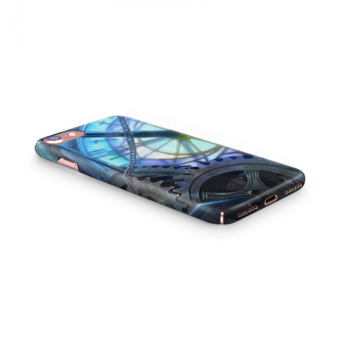 Husa iPhone 7 Custom Hard Case Blue Steampunk 2