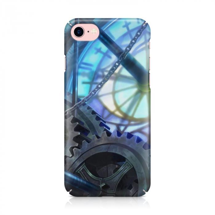 Husa iPhone 7 Custom Hard Case Blue Steampunk 1