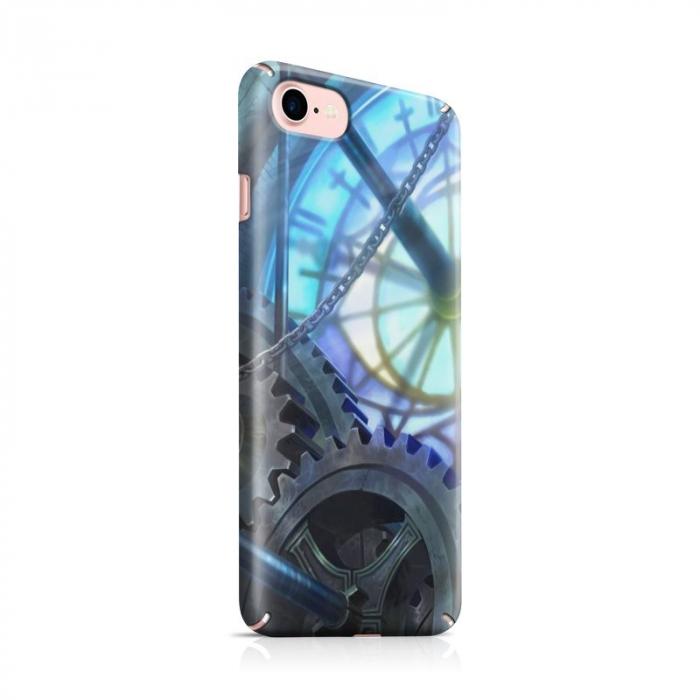 Husa iPhone 7 Custom Hard Case Blue Steampunk 0