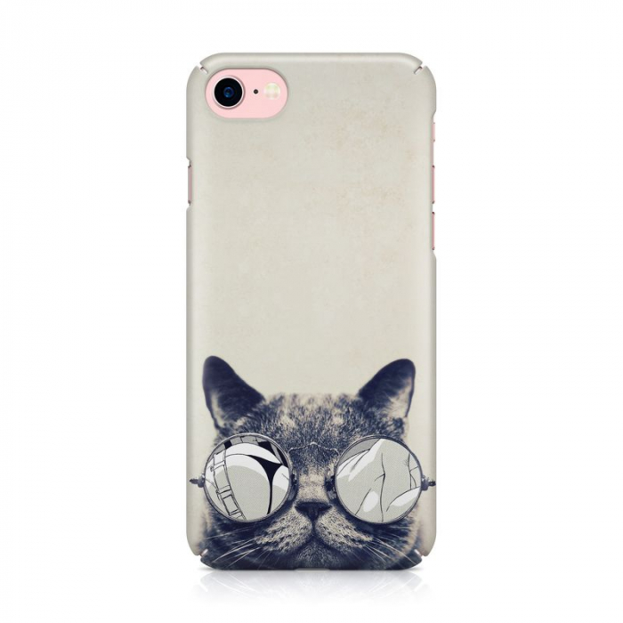 Husa iPhone 7 Custom Hard Case Cool Cat 2