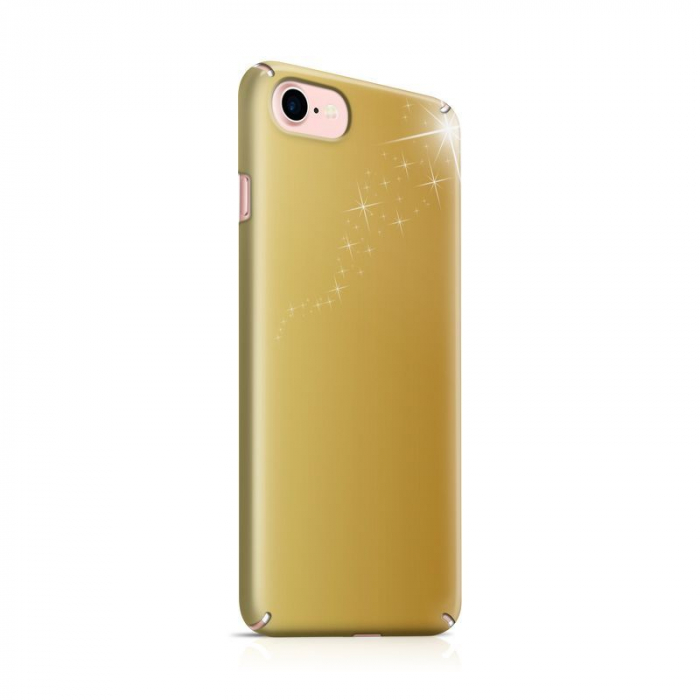 Husa iPhone 7 Custom Hard Case Golden Stars 0