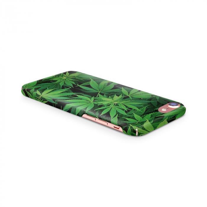 Husa iPhone 7 Custom Hard Case Green Leaf 3