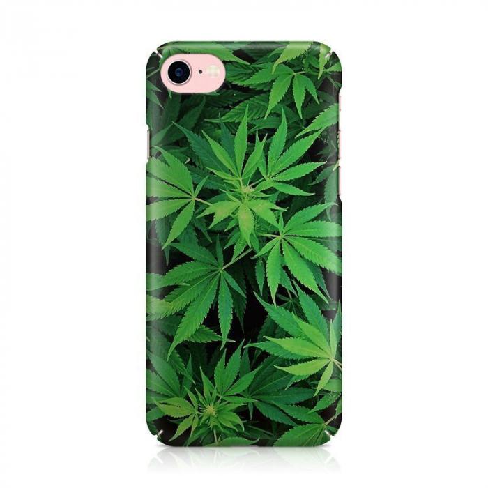 Husa iPhone 7 Custom Hard Case Green Leaf 2
