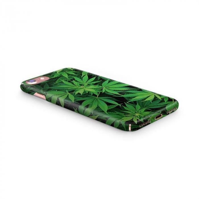 Husa iPhone 7 Custom Hard Case Green Leaf 1