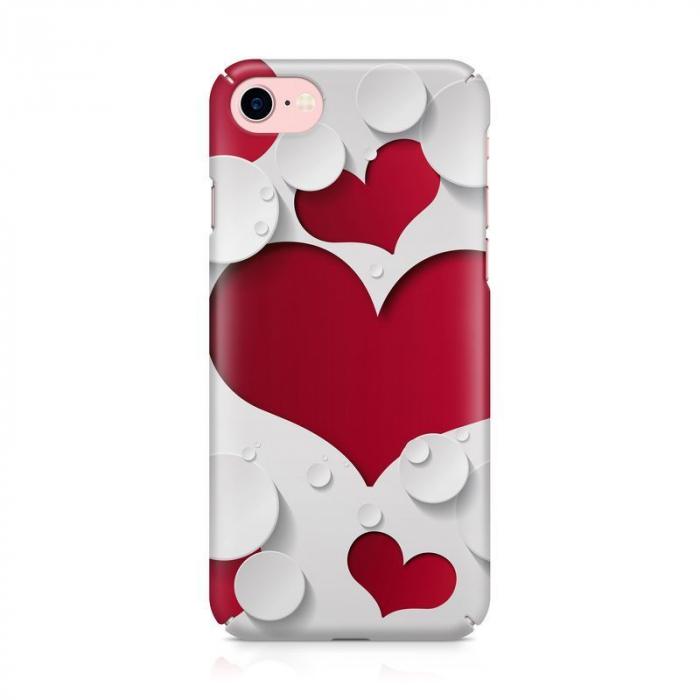 Husa iPhone 7 Custom Hard Case Heart Shape 2
