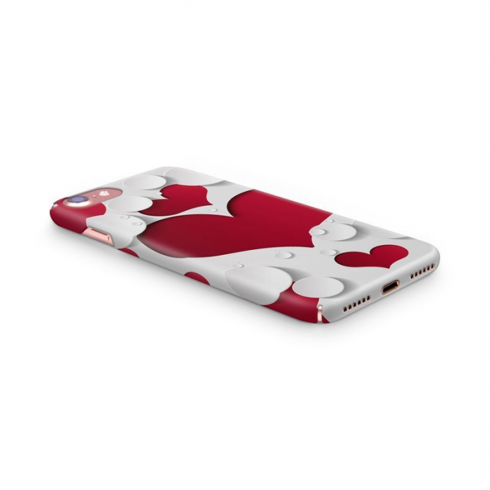 Husa iPhone 7 Custom Hard Case Heart Shape 1