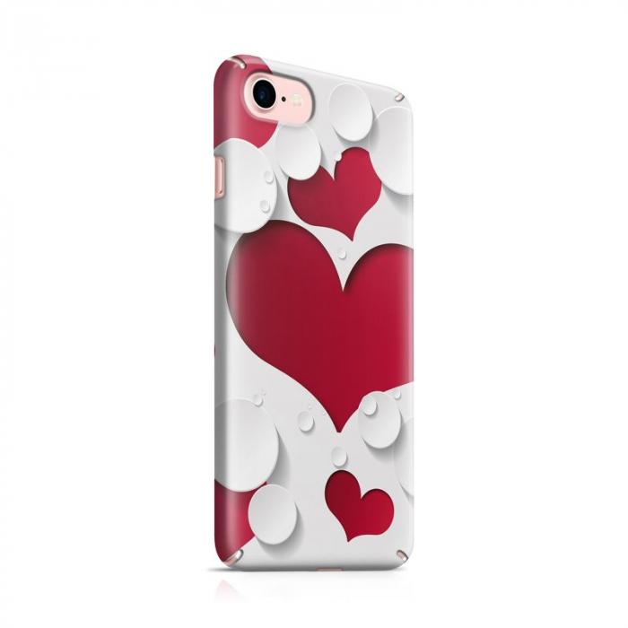 Husa iPhone 7 Custom Hard Case Heart Shape 0