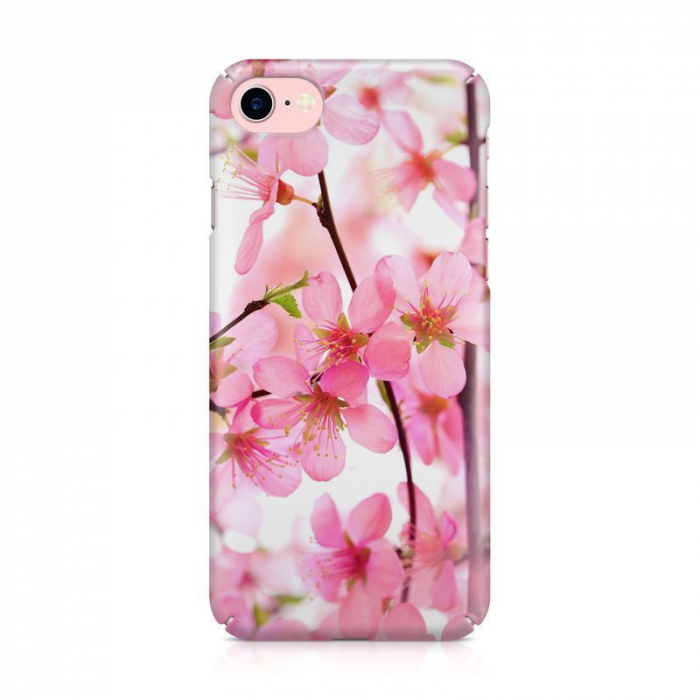 Husa iPhone 7 Custom Hard Case Pink Flowers 1